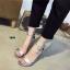 รองเท้าส้นสูงรัดส้น สไตล์Zara (สีเงิน ) thumbnail 2