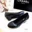 รองเท้าคัทชูผู้หญิง ส้นตัน ทรงสุภาพ (สีดำ) thumbnail 6