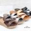 รองเท้าแตะผู้หญิง สไตล์ลำลอง สีทูโทน (สีเทา ) thumbnail 4