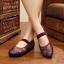"""รองเท้าคัชชูสีชมพู สไตล์ปักกิ่ง ลายดอกไม้สวยหวานดูดี หน้า 0.5"""" ส้น 1.1 """" thumbnail 3"""