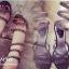 รองเท้าแบบพันข้อเท้าประดับเพชร สไตล์โรมัน (สีดำ) thumbnail 3