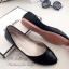 รองเท้าคัทชูส้นแบน หัวแหลม หนังวิ้งๆ (สีดำ ) thumbnail 2