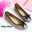 รองเท้าคัทชูส้นแบน แต่งขอบดำ สไตล์Miumiu (สีรุ้ง) thumbnail 5