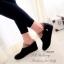 รองเท้าบูทผู้หญิง หนังชามัวนิ่ม แต่งโบว์ข้าง (สีดำ ) thumbnail 4