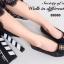 รองเท้าคัทชูส้นเตี้ย หัวตัด บุนวม (สีดำ ) thumbnail 5