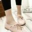 รองเท้าคัทชูส้นเตี้ย หัวแหลม แบบผูกเชือก (สีชมพู ) thumbnail 1
