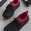 รองเท้าผ้าใบเพื่อสุขภาพ แบบเชือกผูก (สีดำ)