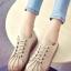 รองเท้าผ้าใบ สไตล์Dr.matens หนังนิ่ม (สีกากี ) thumbnail 1