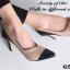 รองเท้าคัทชูส้นสูง หัวแหลม แต่งทูโทน (สีครีม ) thumbnail 5