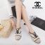 รองเท้าผ้าใบ สไตล์ชาแนล (สีครีม) thumbnail 4