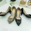 รองเท้าคัทชู เว้าข้าง ทำจากพียูแก้ว (สีดำ ) thumbnail 7