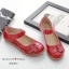 รองเท้าคัทชูเพื่อสุขภาพ หัวกลม แต่งดอกไม้ (สีแดง) thumbnail 2