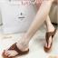 รองเท้าแตะผู้หญิง ทรงหูหนีบ งานสักหราด (สีน้ำตาล )
