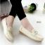 รองเท้าหุ้มส้นผู้หญิง สไตล์Loafer (สีครีม )
