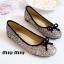 รองเท้าคัทชูส้นแบน แต่งขอบดำ สไตล์Miumiu (สีรุ้ง) thumbnail 3