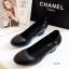 รองเท้าคัทชูผู้หญิง ส้นตัน ทรงสุภาพ (สีดำ) thumbnail 2
