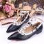 รองเท้าคัทชูสีดำ VALENTINO WATERCOLOR ROCKSTUD Flat Shoes งานหมุดวาเลนเกรดดี รัดข้อเท้าการันตีด้วยภาพถ่ายสินค้าจริงค่า แกะแบบของแท้ วัสดุหนังpuส้นแบนสายแบบเกี่ยวปรับได้ thumbnail 2