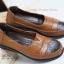 รองเท้าคัทชูเพื่อสุขภาพ สีทูโทน หนังเย็บ (สีน้ำตาล ) thumbnail 5