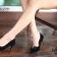 รองเท้าคัทชูหัวแหลม ส้นสูง แต่งโบว์ (สีดำ ) thumbnail 3