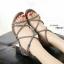 รองเท้าส้นเตี้ยสไตล์เกาหลี ดีไซส์สายไขว้กัน (สีเทา ) thumbnail 3