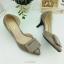รองเท้าคัทชู เว้าข้าง ทำจากพียูแก้ว (สีแทน ) thumbnail 8