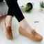 รองเท้าหุ้มส้นผู้หญิง สไตล์Loafer (สีเหลือง )