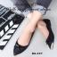 รองเท้าคัชชู ส้นแบนหนังนิ่ม(สีดำ) thumbnail 3