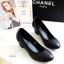 รองเท้าคัทชูผู้หญิง ส้นตัน ทรงสุภาพ (สีดำ) thumbnail 5