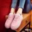 รองเท้าผ้าใบ Korea-style ผ้าแคนวาส (สีชมพู ) thumbnail 3