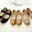 รองเท้าคัทชูส้นแบน เพื่อสุขภาพ แปะเมจิกเทป (สีดำ ) thumbnail 5