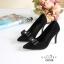 รองเท้าคัทชูหัวแหลม ส้นสูง แต่งโบว์ (สีดำ ) thumbnail 2