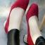 รองเท้าคัทชู ส้นเกลี่ยมเก๋ๆ (สีแดง ) thumbnail 1