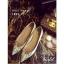 รองเท้าคัทชูส้นเตี้ย หัวแหลม สไตล์Christian louboutin (สีทอง ) thumbnail 4