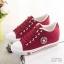 รองเท้าผ้าใบ Sneaker Converse Style (สีแดง ) thumbnail 2