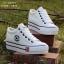 รองเท้าผ้าใบ สไตล์Converse ผ้ายีนส์ (สีขาว ) thumbnail 3