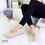 รองเท้าคัทชูแบบสายรัด ฉลุลาย แนววินเทจ (สีแอปปริคอท ) thumbnail 2