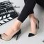 รองเท้าคัทชูส้นสูง หัวแหลม แต่งทูโทน (สีครีม ) thumbnail 4