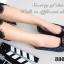รองเท้าคัทชูส้นเตี้ย หัวตัด บุนวม (สีน้ำเงิน ) thumbnail 4