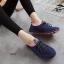 รองเท้าผ้าใบเพื่อสุขภาพ แบบเชือกผูก (สีน้ำเงิน) thumbnail 4
