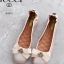 รองเท้าคัทชูส้นเตี้ย หัวมน แต่งโบว์ (สีชมพู) thumbnail 1