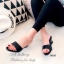 รองเท้าแตะส้นสูง หนังเงาวิ้ง (สีดำ ) thumbnail 3