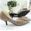 รองเท้าคัทชู เว้าข้าง ทำจากพียูแก้ว (สีแทน ) thumbnail 5