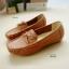 รองเท้าหุ้มส้นผู้หญิง สไตล์Loafer (สีเหลือง ) thumbnail 2