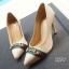 รองเท้าคัทชูส้นสูง หัวแหลม (สีแอปปริคอท ) thumbnail 3