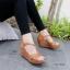 รองเท้าส้นเตารีด ส้นโอ่ง แบบตะขอเกี่ยว (สีน้ำตาล ) thumbnail 2