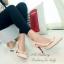 รองเท้าคัทชูส้นสูง วัสดุหนังนิ่มต่อพียู (สีแอปริคอล) thumbnail 2