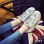 รองเท้าผ้าใบผู้หญิง สไตล์เกาหลี ผ้าแคนวาสแต่งกำมะหยี่ (สีเทา ) thumbnail 5