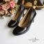 รองเท้าคัทชูส้นสูง หัวมน ทรงสุภาพ (สีดำ ) thumbnail 5