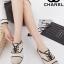 รองเท้าผ้าใบ สไตล์ชาแนล (สีครีม) thumbnail 1