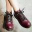 รองเท้าบูทสไตล์เท่ห์ แนววินเทจ (สีไวน์) thumbnail 1